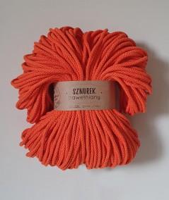 Sznurek bawełniany 5 mm pomarańczowy łososiowy do rękodzieła
