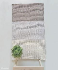 Lami dywan w paski ze sznurka 60 x 105 cm ręcznie robiony