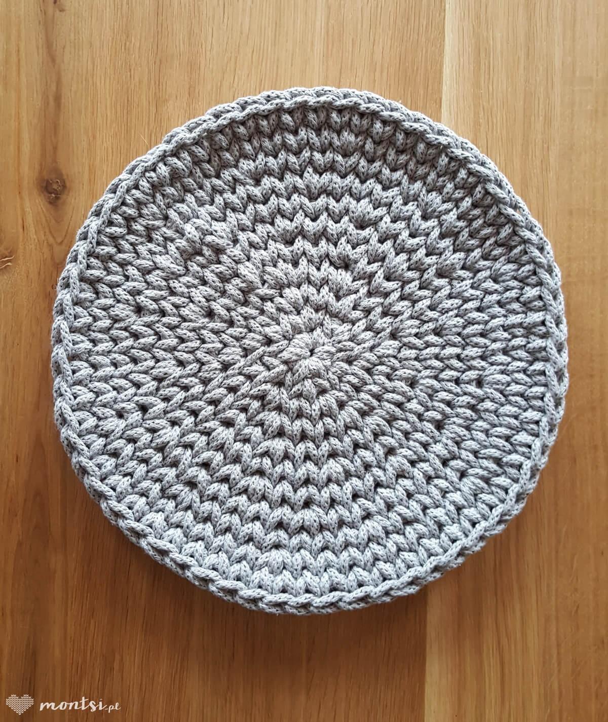 Vivi podkładka na stół 30 cm tablet ze sznurka kolor szary