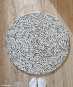 Siti dywan okrągły ze sznurka 70-200 cm ręcznie robiony - jasny szary - 70 cm