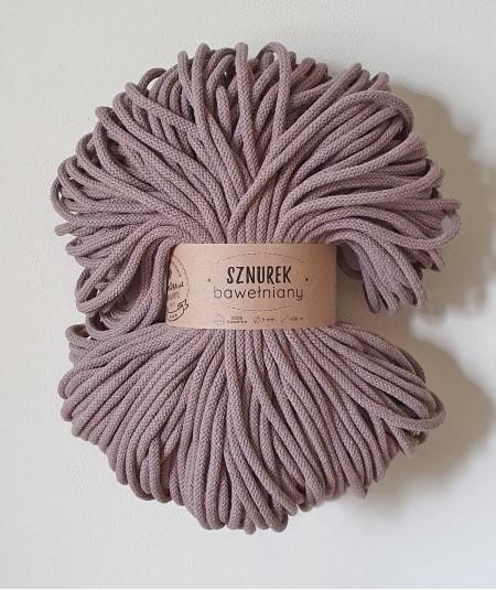 Sznurek bawełniany 5 mm kakao do rękodzieła