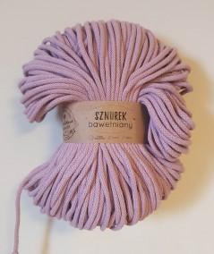 Sznurek bawełniany 5 mm brudny różowy do rękodzieła