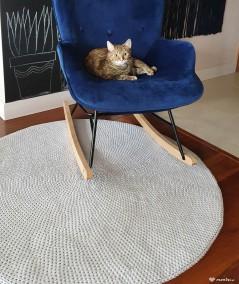 Siti dywan okrągły ze sznurka ręcznie robiony - 120 cm jasnoszary