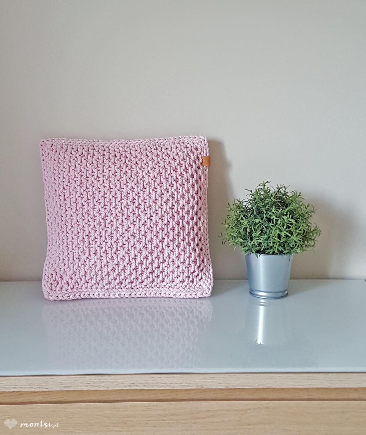 Kiki poduszka ze sznurka jasny różowy