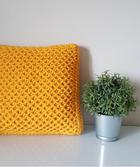 Kiki poduszka ze sznurka żółta
