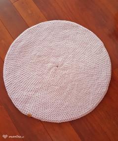 Siti dywan ze sznurka 80 cm ręcznie robiony pudrowy róż