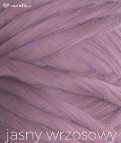 MrBulky koc z wełny czesankowej - kolor jasny wrzosowy