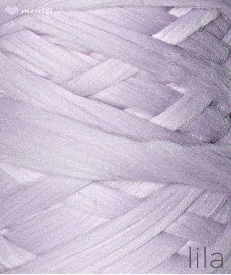 MrBulky koc z wełny czesankowej - kolor lila