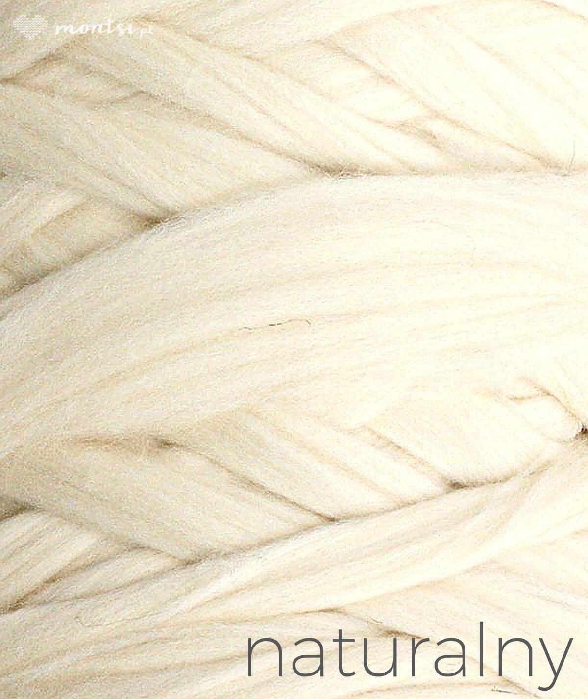 MrBulky koc z wełny czesankowej - kolor naturalny