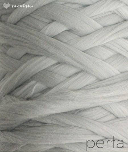 MrBulky koc z wełny czesankowej - kolor perła