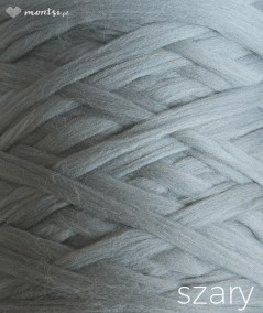 MrBulky koc z wełny czesankowej - kolor szary