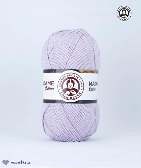 Włóczka Madame Cotton 030 jasny fioletowy Madame Tricote Paris