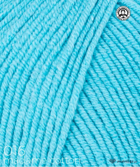 Włóczka Madame Cotton 016 jasny turkusowy Madame Tricote Paris