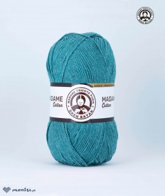 Włóczka Madame Cotton 015 turkusowy Madame Tricote Paris