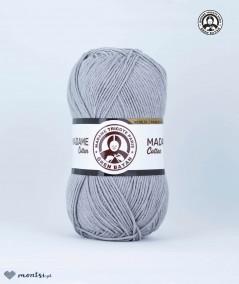 Włóczka Madame Cotton 001 jasny szary Madame Tricote Paris