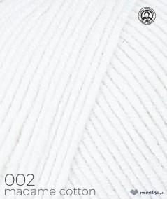 Włóczka Madame Cotton 002 biały Madame Tricote Paris