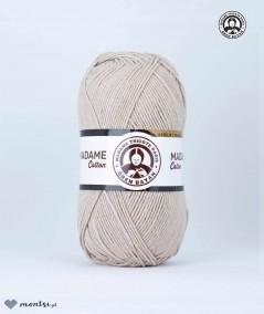 Włóczka Madame Cotton 005 jasny beżowy Madame Tricote Paris