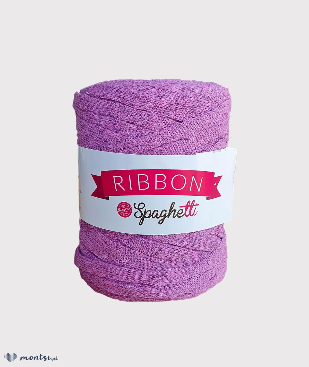 Włóczka sznurek Ribbon Spaghetti 34 wrzosowy