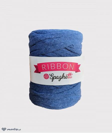 Włóczka sznurek Ribbon Spaghetti 42 niebieski