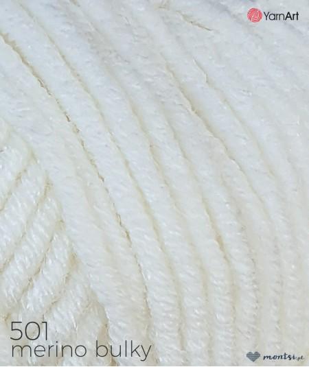 Włóczka Merino Bulky YarnArt 501 biały