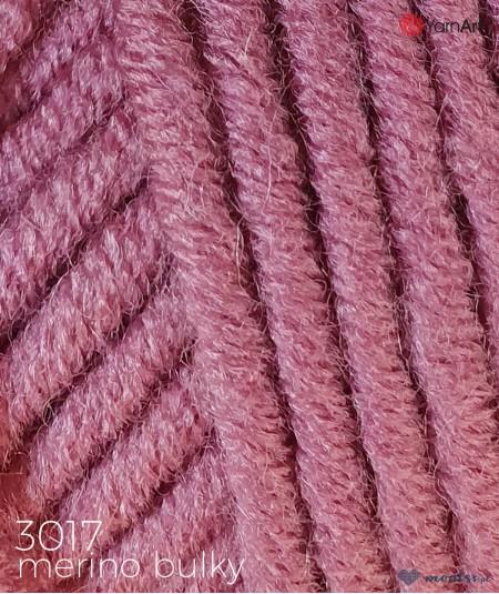 Włóczka Merino Bulky YarnArt 3017 amarant