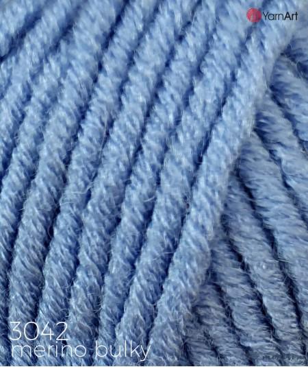 Włóczka Merino Bulky YarnArt 3042 niebieski