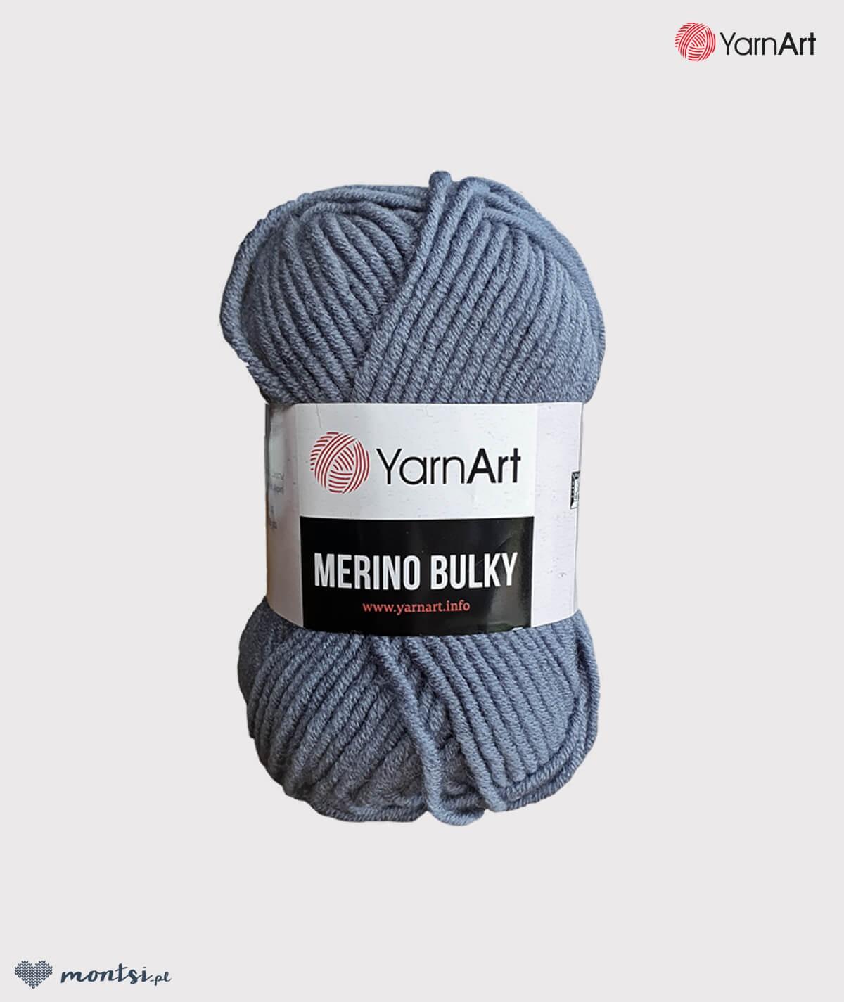 Włóczka Merino Bulky YarnArt 3088 szary stalowy